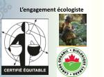 l engagement cologiste