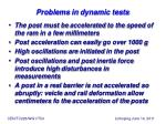 problems in dynamic tests