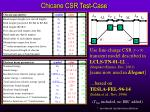 chicane csr test case