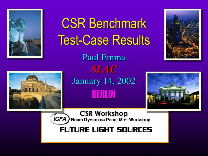 csr benchmark test case results n.