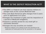 what is the deficit reduction act