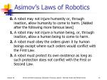 asimov s laws of robotics