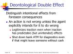 deontological double effect