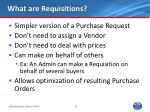 what are requisitions