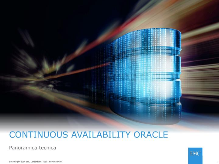 continuous availability oracle n.