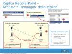 replica recoverpoint accesso all immagine della replica