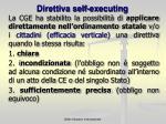 direttiva self executing
