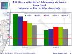affinit sok v ltoz sa a 15 24 vesek k r ben index trend internetet online tv r di ra haszn lja