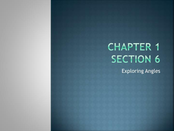 chapter 1 section 6 n.