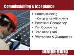 commissioning acceptance