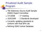 privatized audit sample program
