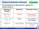 measuring elasticity of demand