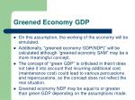 greened economy gdp