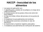 haccp inocuidad de los alimentos