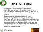 expertise requise1