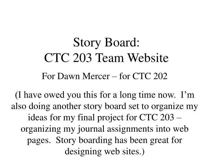 story board ctc 203 team website n.