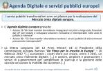 agenda digitale e servizi pubblici europei