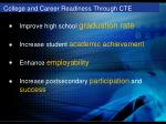 college and career readiness through cte