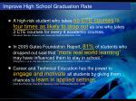 improve high school graduation rate