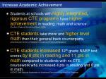 increase academic achievement