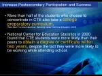 increase postsecondary participation and success