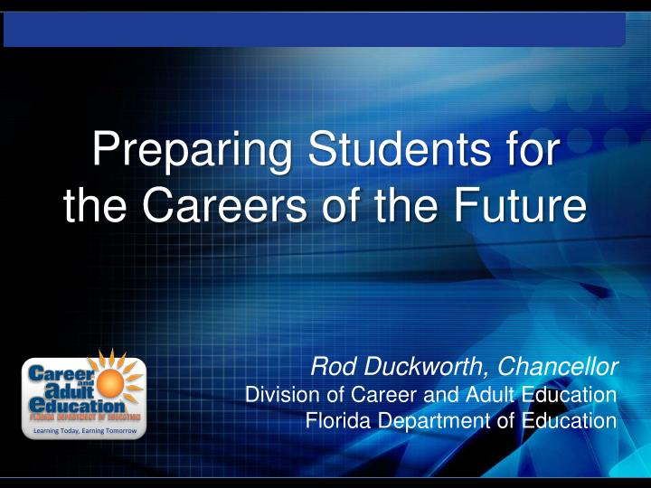 preparing students for the careers of the future n.