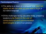technological fluency
