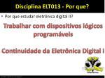 disciplina elt013 por que1