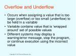 overflow and underflow