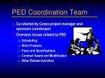 ped coordination team