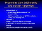 preconstruction engineering and design agreement