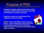 purpose of ped