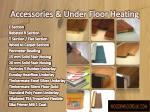 accessories under floor heating