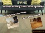 wooden flooring solid and engineered