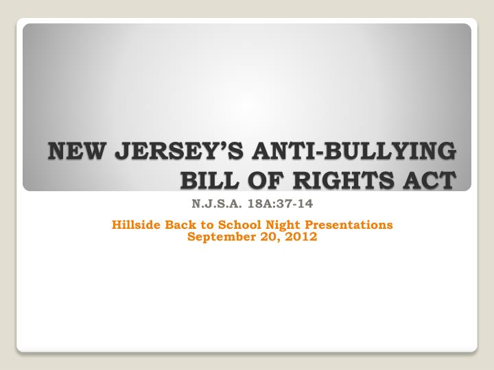 new jersey s anti bullying bill of rights act n.