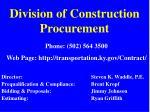 division of construction procurement