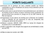 points saillants