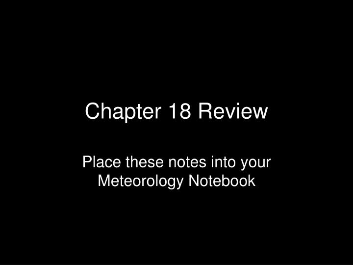chapter 18 review n.