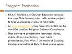 program promotion