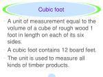 cubic foot