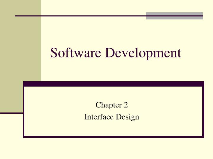 software development n.
