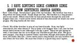 5 i have sentence sense common sense about how sentences should sound