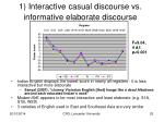 1 interactive casual discourse vs informative elaborate discourse1