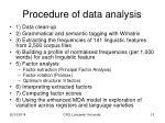 procedure of data analysis