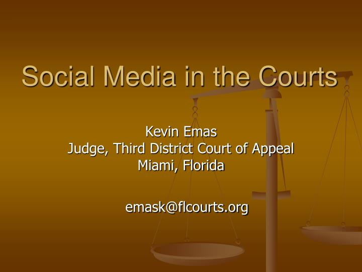 social media in the courts n.