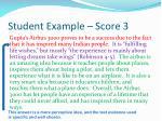 student example score 3