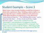 student example score 31