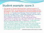 student example score 32