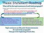 thesis statement roadmap