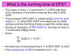 what is the running time of dfs